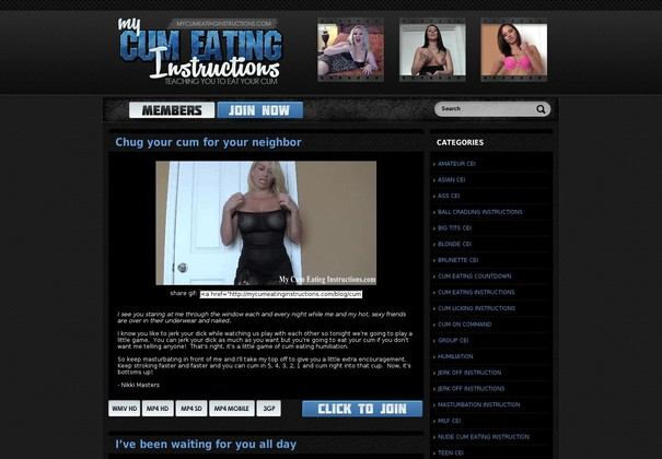 my cum eating instructions mycumeatinginstructions.com